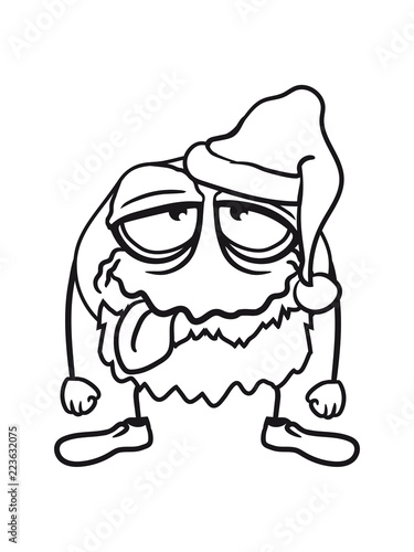 Valokuva  betrunken weihnachten weihnachtsmann nikolaus geschenke monster stehen alt kopf