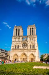 Famous cathedral Notre Dame de Paris in Paris, France.