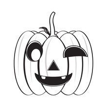 Isolated Happy Halloween Pumpk...