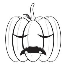 Isolated Halloween Pumpkin Icon
