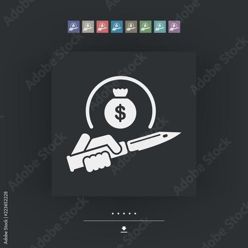 Fotografie, Obraz  Assault to robbery
