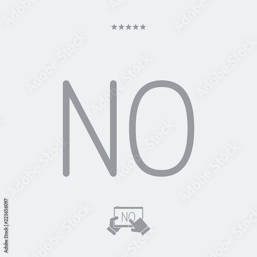 Fényképezés  Refusal concept - Minimal vector icon