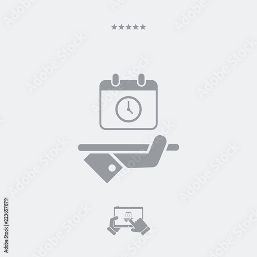 Fényképezés  Full time services - Vector web icon
