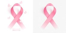 3D Pink Ribbon And Circling Bu...