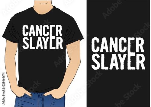 Cancer Slayer T-shirt Canvas Print