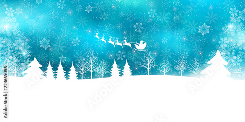 Fototapeta クリスマス 雪 冬 背景  obraz
