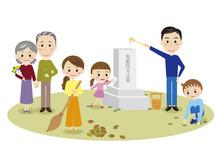 家族でお墓参り
