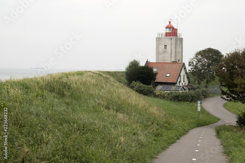 Historical light house De Ven in Oosterdijk Canvas