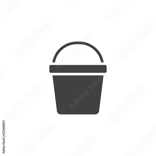 Bucket vector icon. filled flat sign for mobile concept and web design. Pail solid icon. Symbol, logo illustration. Pixel perfect vector graphics Wall mural