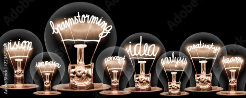 Cuadros en Lienzo  Light Bulbs Concept