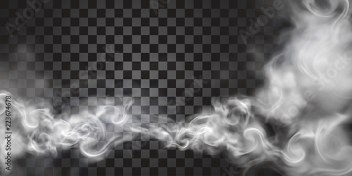 Smoke floating in the air Canvas Print