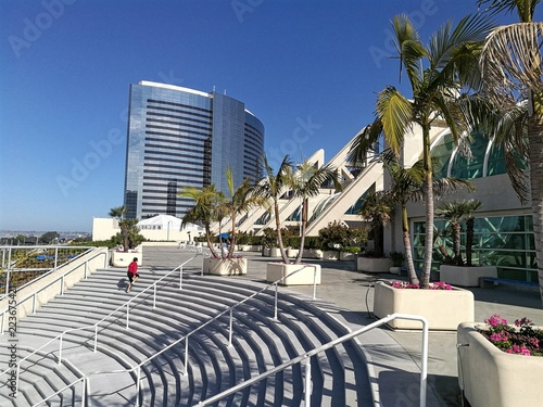 Valokuva  Convention Center and modern buildings in San Diego, USA