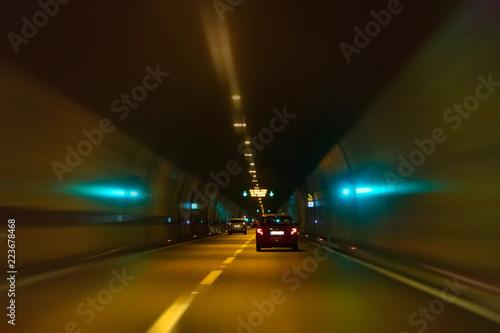Papiers peints Tunnel driving through a motorway tunnel, Sveti Rok, Croatia