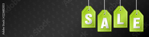 Template of panoramic banner for Black Friday Sale. Vector. Wallpaper Mural