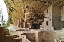 Ancient Buildings In Mesa Verde In America