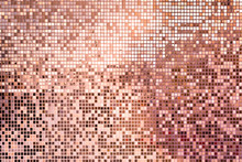 Pink Rose Gold Square Mosaic T...