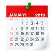 canvas print picture - January 2019 - Calendar.