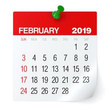 February 2019 - Calendar.