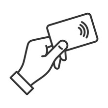 Hand With NFC Payment Credit C...