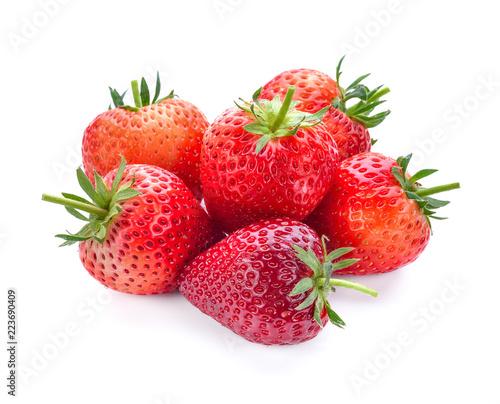 Foto op Aluminium Vruchten Strawberry fruit isolated on white background.