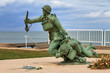 canvas print picture - Beautiful view of the Omaha Beach 116th Regimental Combat Team Memorial in Normandy, France
