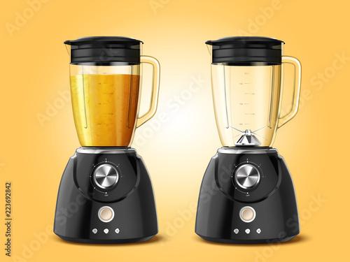 Photo Set of juicer blender appliances