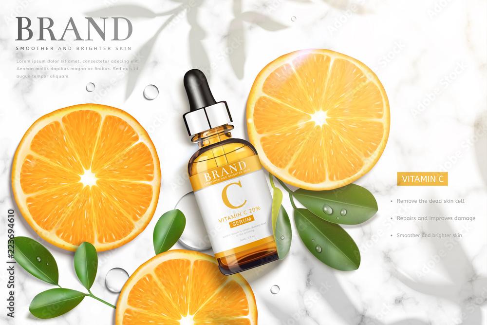 Fototapeta Vitamin C essence ads