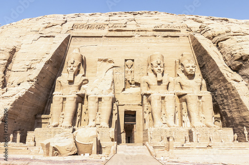 Foto  Abu Simbel, the Great Temple of Ramesses II, Egypt