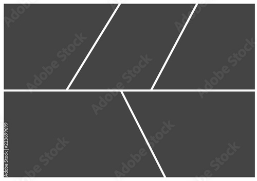 Fototapeta Frame for photo collage or picture vector illustration