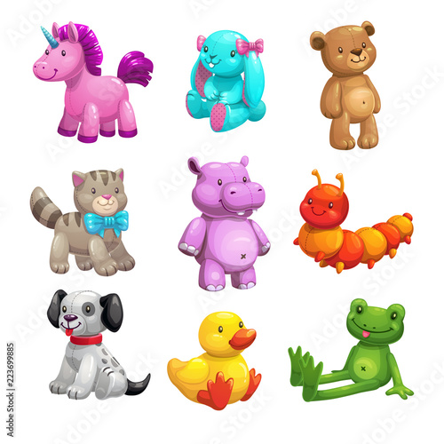 My first friends. Funny textile stuffed toys set. #223699885