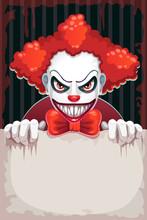 Creepy Circus Poster. Scary Ev...