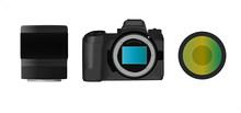 Mirrorless Photo Camera Lens Mount Modern Digital Full Frame
