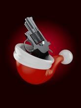 Gun Inside Santa's Hat
