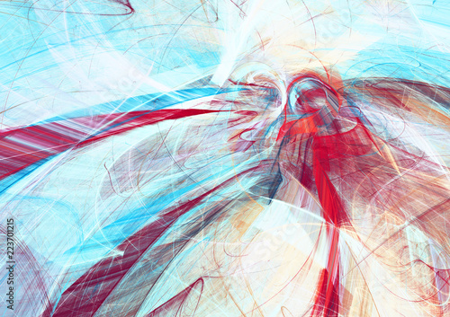 Abstract Beautiful Red And Blue Bright Color Background
