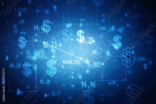 Fotografía  2d rendering Dollar symbol