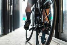 Sport Bike Man Riding Inside U...