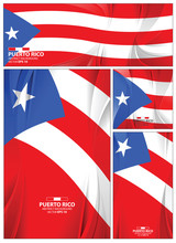 Abstract Puerto Rico Flag Background