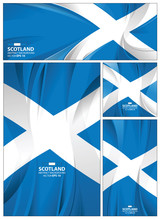 Abstract Scotland Flag Backgro...