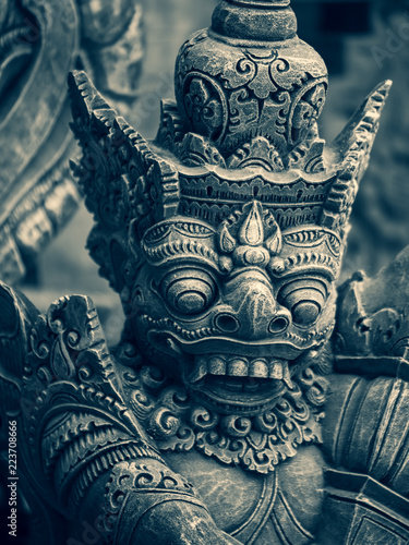 Fotografering Traditional stone statues depicting demons in Bali,Indonesia