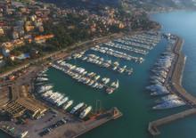 Marina Of The Italian City Of Sanremo At Sunset