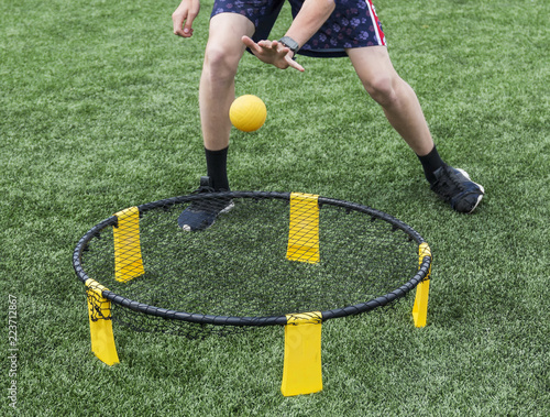 Playing spike ball Canvas-taulu