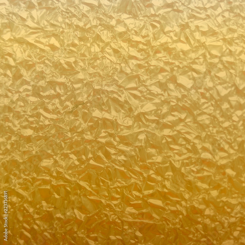 Poster Maroc Gold foil texture background. Background texture of crumpled foil sheet. Light Abstract golden background.