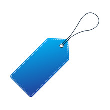 Blue Price Tag. Vector Illustration