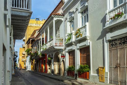 Ingelijste posters Zuid-Amerika land View of Cartagena de Indias, Colombia