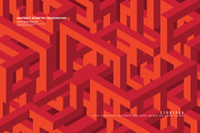 Abstract Isometric Background In Vector
