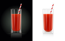 Fresh Tomato Juice Glass With ...