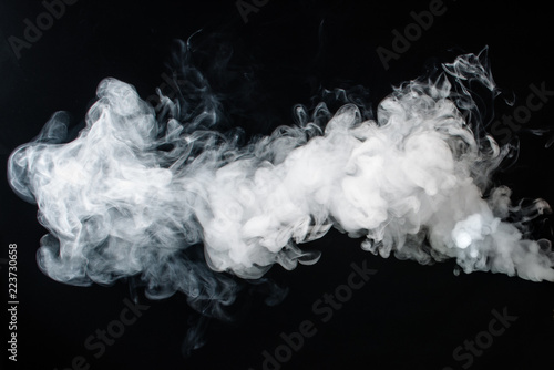 Poster de jardin Fumee Abstract smoke on a dark background