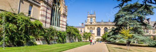 Staande foto Historisch geb. Trinity College in the ancient center of Oxford, England, UK