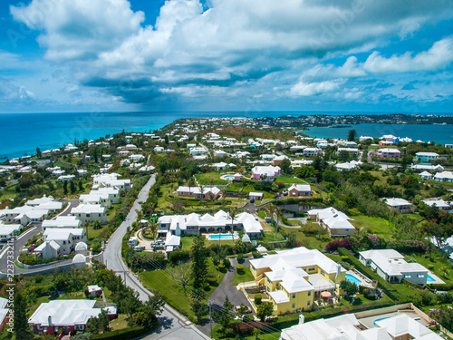 Bermuda aerial view Wallpaper Mural