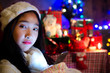 Young Asian woman in a happy Christmas and a Happy New Year
